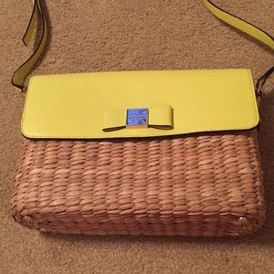 Kate Spade Basket Purse Neon Yellow